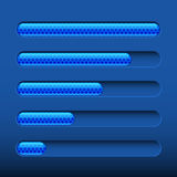 Loading bar on dark blue background Stock Image