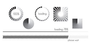 Loading bar set Stock Photos