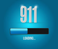 911 loading bar sign concept illustration design. Over white vector illustration