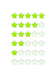 Loading bar from stars like a flower Royalty Free Stock Images