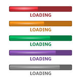 Loading bars Royalty Free Stock Photos