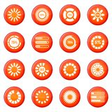Loading bars icons vector set Stock Photography