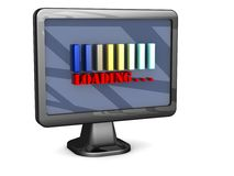 Loading bars on a monitor screen Royalty Free Stock Photography
