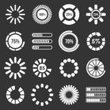 Loading bars and preloaders icons set grey vector Royalty Free Stock Image
