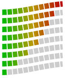Loading bars, progress, strength indicators, generic meters. Spe. Ctrum fill. - Royalty free vector illustration Royalty Free Stock Images