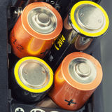Loading batteries Royalty Free Stock Photos