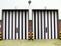 Loading bay doors Stock Photography