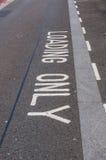 Loading Bay for motorists, UK Royalty Free Stock Photo
