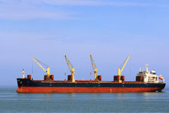 Loading the boats at anchor Royalty Free Stock Photography