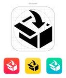 Loading in box icon. Vector illustration stock illustration