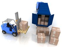 Loading of boxes Royalty Free Stock Images