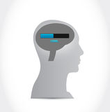 Loading brain and head illustration design. Over a white background Stock Photo