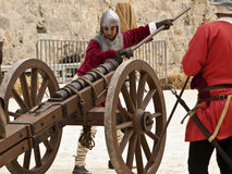 Loading a Cannon Stock Photography