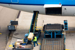 Loading cargo Stock Photo