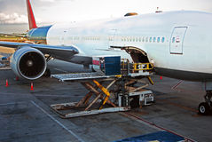 Loading cargo Airplane Stock Photos