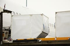 Loading of cargo containers Royalty Free Stock Image