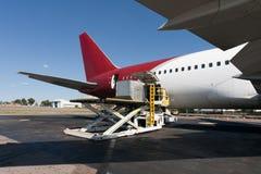 Loading cargo plane royalty free stock photo