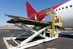Loading cargo plane royalty free stock images