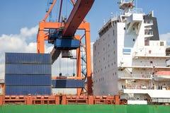 Loading Cargo On A Ship Royalty Free Stock Photos