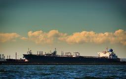 Loading cargo ship in port Gdansk, Poland. Stock Photography