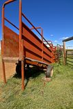 Loading chute by empty corral in the western prairies Royalty Free Stock Images
