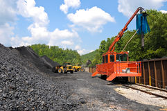 Loading Coal Royalty Free Stock Image