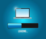 Loading computer updates illustration Royalty Free Stock Image