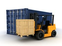 Loading Container Royalty Free Stock Images
