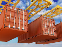 Loading Container Royalty Free Stock Photography