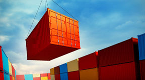 Loading container stock illustration