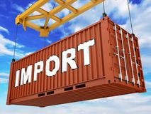 Loading Container Royalty Free Stock Photos