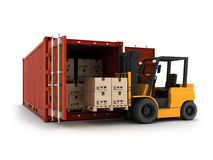 Loading Container Royalty Free Stock Photo