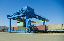 Loading of containers Royalty Free Stock Photo