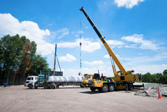 Loading by crane Royalty Free Stock Images