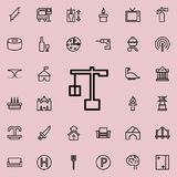 loading crane icon. Detailed set of minimalistic line icons. Premium graphic design. One of the collection icons for websites, web royalty free illustration