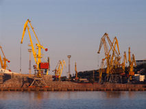 Loading cranes in the port 2 Royalty Free Stock Photography