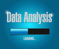 Loading data analysis illustration design Royalty Free Stock Photo
