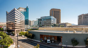 Loading doc in downtown Boise Idaho and skyline Royalty Free Stock Photography