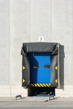 Loading dock. A single blue loading dock, number two on top Royalty Free Stock Photography
