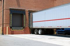 Loading Dock. A loading dock behind a large retail store stock images