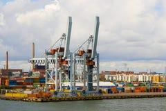 Loading dock. Commercial loading dock at Helsinki. Finland Royalty Free Stock Images