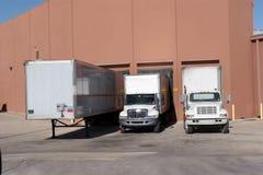 Loading Dock. Trucks at loading dock Stock Photography