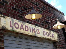 Loading Dock. A photograph of a loading dock at dusk Royalty Free Stock Photography