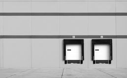 Loading Dock bays Royalty Free Stock Images