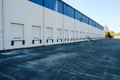 Loading dock with blocked doors Royalty Free Stock Image