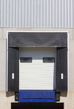 Loading dock cargo doors. Close-up Stock Image