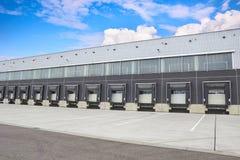 Loading dock cargo doors, building exterior Stock Photography