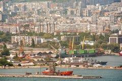 Loading dock cargo port of Varna in Bulgaria Royalty Free Stock Photos
