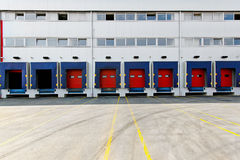 Loading dock doors Stock Photography