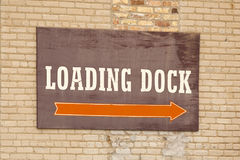 Loading Dock Sign Royalty Free Stock Photo